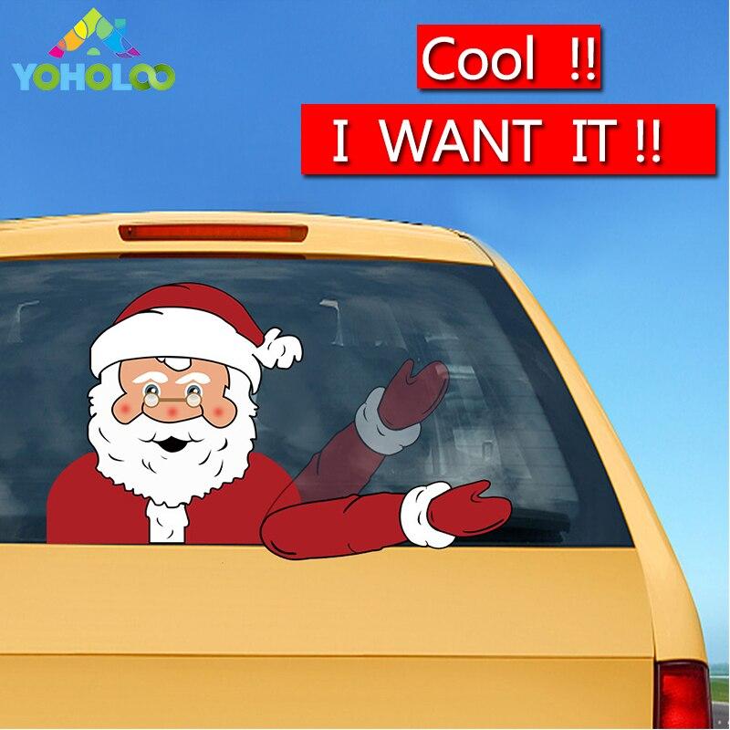 Dropshipping Winken Arm Weihnachten Auto Wischer Decals Aufkleber-Santa Claus