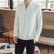 Jacket China Wind Jacket Men's coat Long Sleeve Baseball Collar Zipper Solid Color Simple Size S-5XLcasual slim Men's Jacket цена 2017