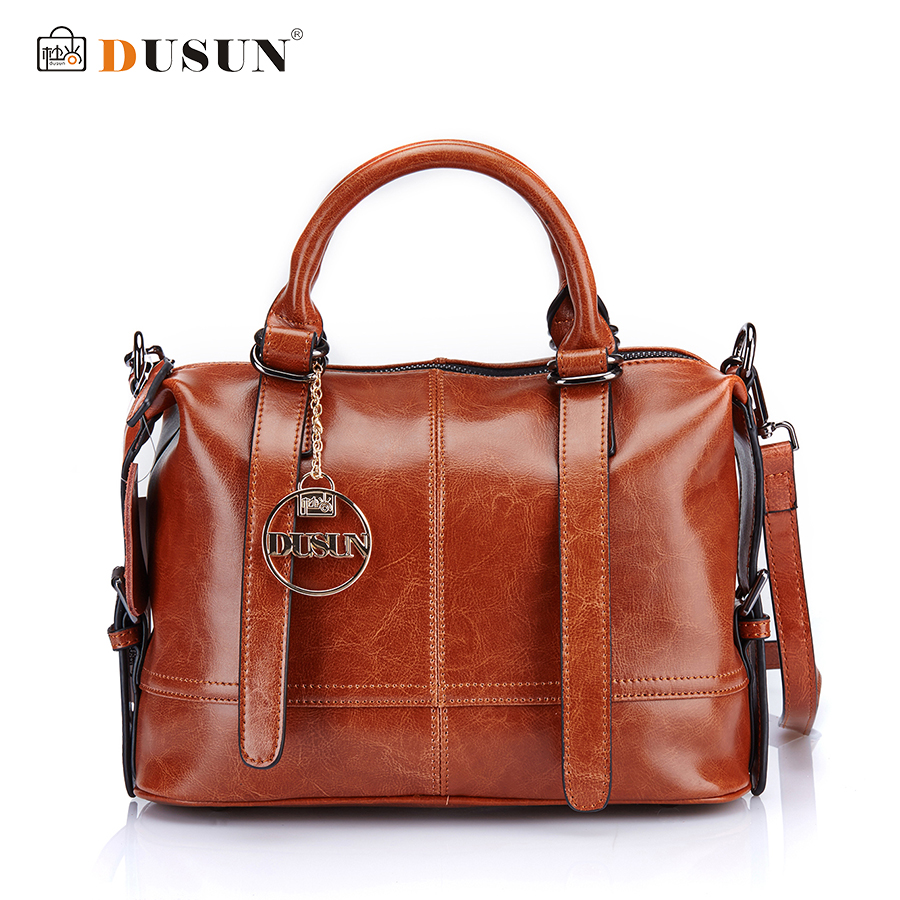 DUSUN Women's Casual Handbags Genuine Leather Shoulder Bag Women Messenger Bag High Quality Fashion Women Bags Bolsa Feminina men s genuine leather handbags vintage fashion bolsa feminina casual 2017 new style messenger bag clutch shoulder bags office