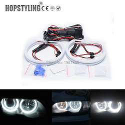 Hopstyling 1 Set Cotton Light Halo ring Angel Eyes for BMW E46 non Projector 2x131mm 146 Car-styling White Headlight