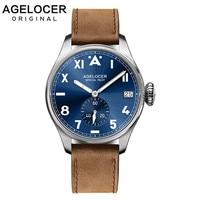 남성 시계 스위스 브랜드 agelocer 럭셔리 시계 빛나는 남자 316l 스테인레스 스틸 기계식 시계 남성 시계 relogio masculino