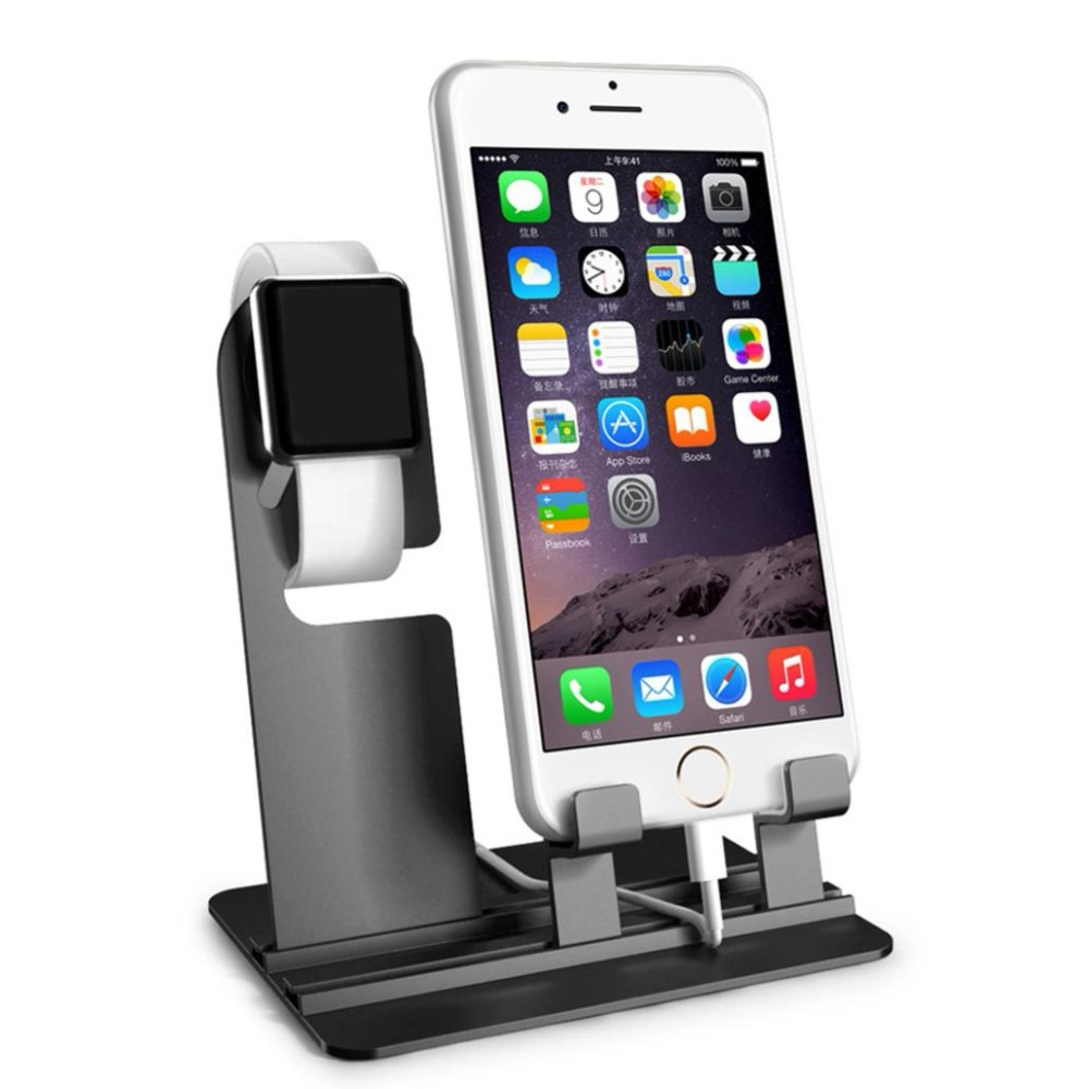 цена на charger stand dock For Apple Watch 4 3 2 1 iwatch 42mm/38mm iPhone 8 X 8Plus samsung S8 S8 Charging Dock Station Stand