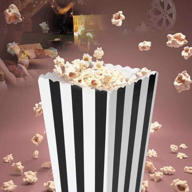 12pcs popcorn bags paper Party Gifts Favor Candy Treat Popcorn Boxes for Wedding Party Supply Decoration Christmas Birthday