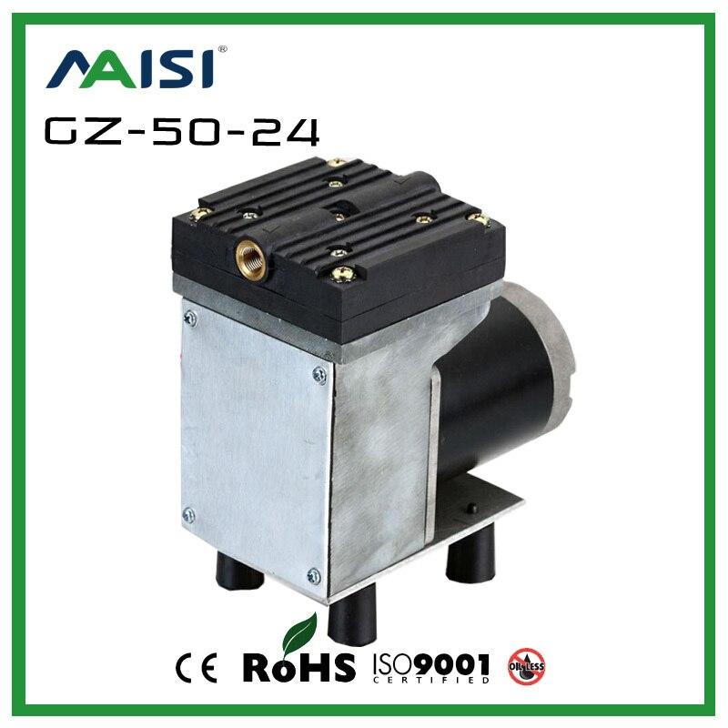 Comprar (GZ 50) 12 V/24 V (DC) 33L/min 50 W pequeña bomba de vacío eléctrica bomba de diafragma de alta presión bomba de vacío médica bomba de aire eléctrica de vacuum pump electric fiable proveedores en Ningbo Yinzhou MAISI Mechanical & El