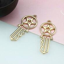10Pcs Korean Fashion Statement Earrings alloy key for Women bracelet pendant material DIY ear jewelry accessories