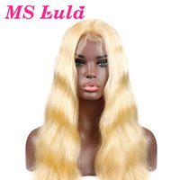 MS Lula Brazilian Blonde 613 Body wave Wig Lace Front Human Hair Wigs Medium Size with Baby Hair Remy Free Shipping