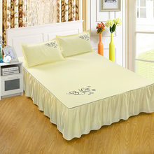 1Pc Blanket Home Textile Bedding Soft Solid Printed Bed cover Bedspreads Polyester Bed Sheet Bed for Twin Full Queen King Size(China)