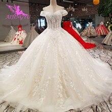 AIJINGYU Tulle Train Bridal Shops Guangzhou Wedding Dress