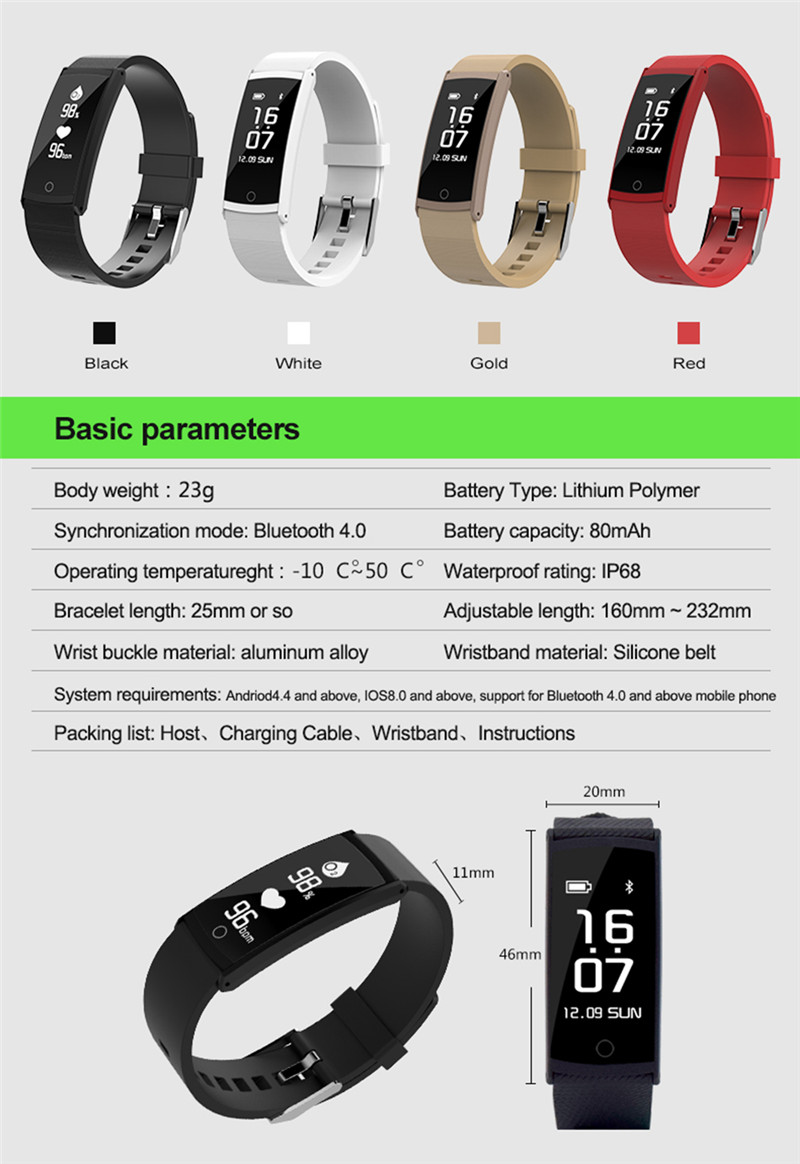 Deluxe Smart Watch for iOS Android 24-hour Heart Rate Monitor Blood Pressure&Oxygen Detection Weather Forecast Message Call Push