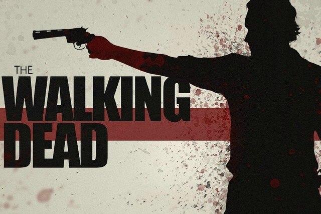 DIY frame the walking dead TV series rick grimes blood sprays drops ...