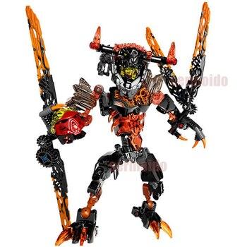 BIONICLE 118 sztuk Lava Beast dane 613-2 budynku zabawki z klocków kompatybilny Sermoido BIONICLE prezent