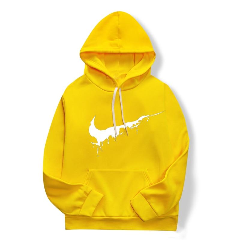 Spring/fall 2019 Women's Sweatshirt, Women's Yellow Long-sleeved Hoodie, Top Print Hoodie Size Xs-4 Xl
