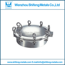 200mm Food grade stainless steel 304 round manhole cover/manway pressure 3bar