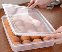 24 Izgara Darbeye Plastik Yumurta Tepsisi Buzdolabı Yumurta Koruma Kutusu Şeffaf Yumurta Saklama Kutusu