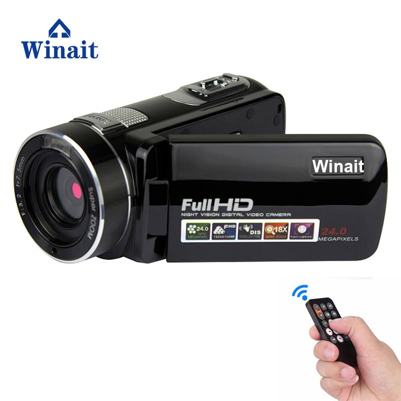 Winait full hd 1080p night vision digital video camera with 3.0'' TFT display and 16x digital zoom video camcorder free shipping