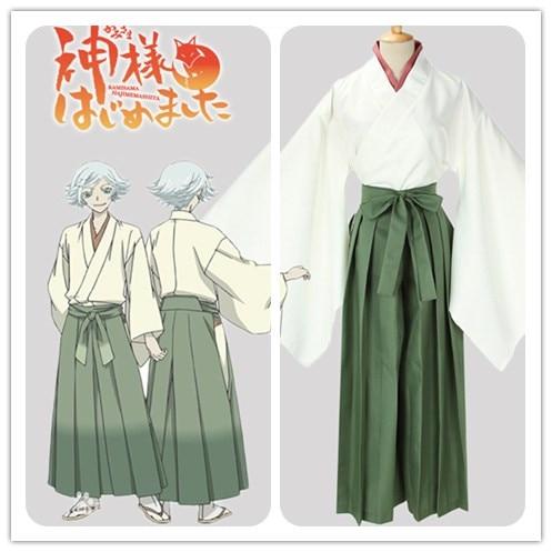 Kamisama Kiss Hajimemashita Love Mizuki Cosplay Costume Kimono Halloween Unisex Costumes