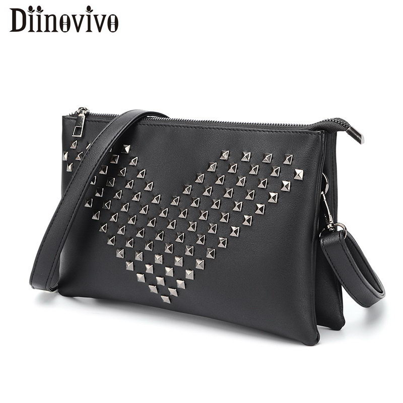 Womens Leather Rivet Backpack Fashionable Punk Rock Style High Grade Bags Wears
