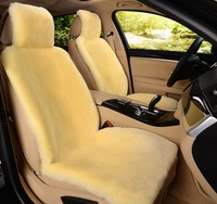 1 Pc 100 Natural Fur Australian Sheepskin Car Seat Covers Universal Size For One Front Seat