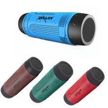 Zealot S1 Waterproof Wireless Bluetooth Speaker PowerBank Output 3 Mode Flashlight Handsfree for Smartphone TF Card Caixa de som