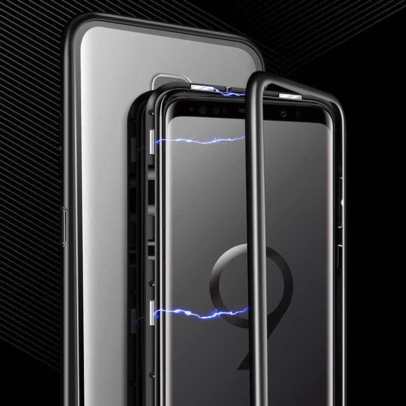 Kính cường lực Điện Thoại Từ Điện Thoại Di Động Trong Suốt Nắp Lưng Vỏ Dành Cho dành cho Samsung S8 S9 S10/iPhone x XS XR/Redmi Note 7
