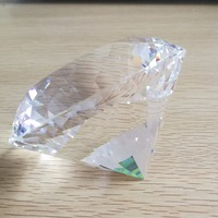 100mm Clear Crystal Diamond Birthday Gift Crystal K9 Glass Diamond For Girlfriend Crystal Big Stones For Wedding Party Supply