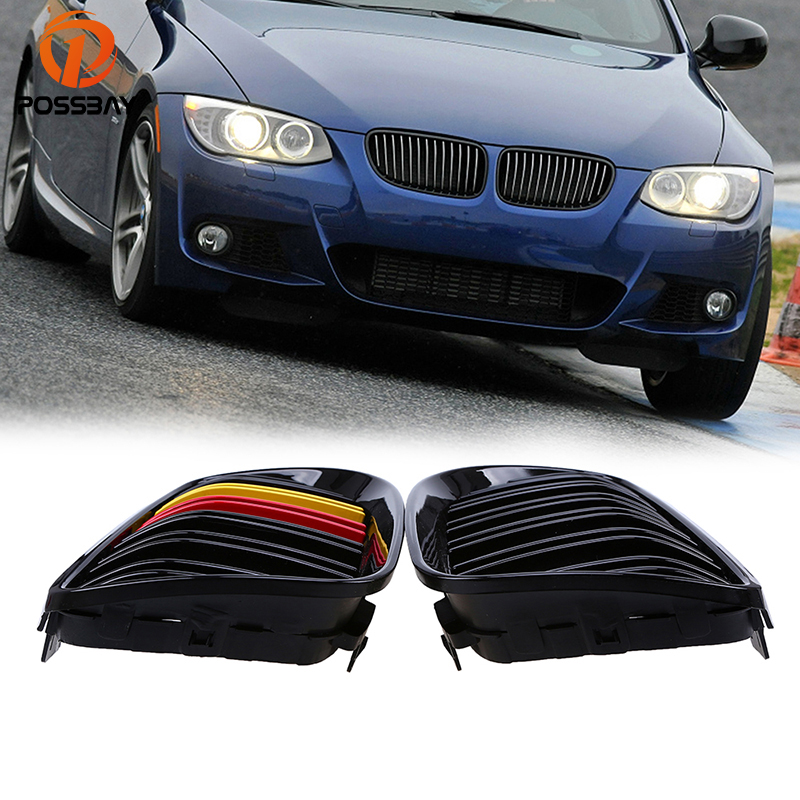 Racing Grille Dual Slat Kidney Front Grills for BMW 3-Series E92 E93 Coupe 2010-2013 Facelift Front Side Center DecorationRacing Grille Dual Slat Kidney Front Grills for BMW 3-Series E92 E93 Coupe 2010-2013 Facelift Front Side Center Decoration