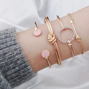Silver Gold Charm Bracelet for