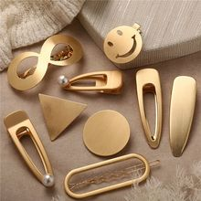 Hair Accessories Metal Snap Clips Hairpins Hairclips Smiley Face Hairgrips Barrettes Hairdressing Tool