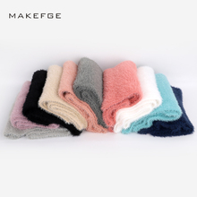 Autumn and winter knitted fur adult children's scarf solid color warm and comfortable men's and women's general thick ski female
