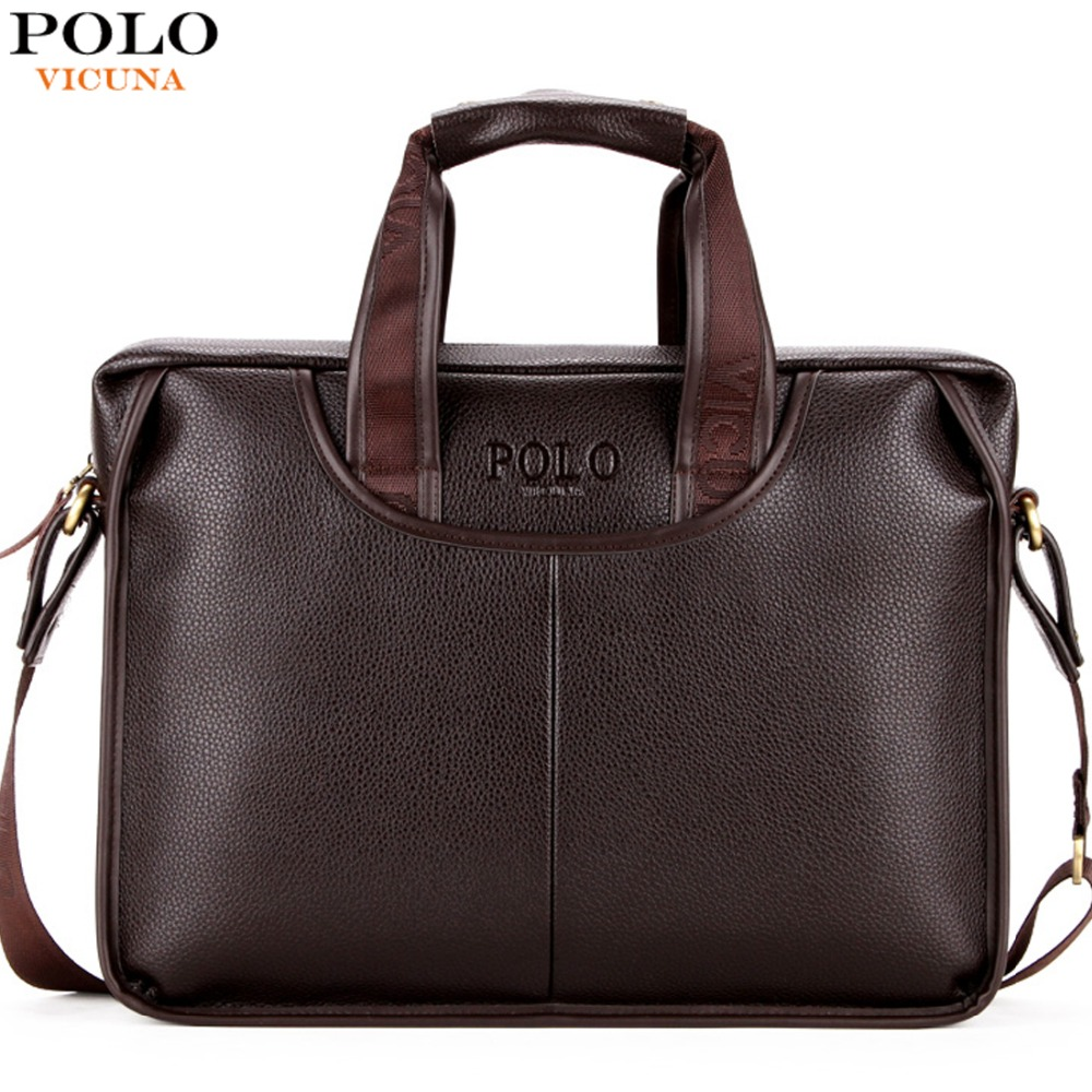 VICUNA POLO Promotion Famous Brand Handbag High Quality PU Leather Men Tote Bag borse Classic Sewing Thread Design Men Sling Bag brand polo golf clothing bag shoes bag storage clothing bag travel tote bag anti friction pu high density nylon