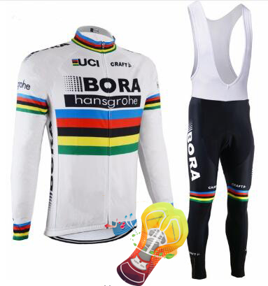 2017 BORA Men's Spring/Autumn Long Sleeve Pro Cycling Jersey Set Team Bike Clothes Ropa Maillot Ciclismo with 16D Gel Pad mens bora ropa ciclismo pro team 2018 new bora cycling jersey long sleeve bike clothing bicycle shirt maillot mtb clothes