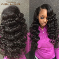 Loose Deep Wave Brazilian Virgin Hair 3 pcs Loose Wave Weave Unprocessed Virgin Brazilian Hair Natural Black Human Hair Weave