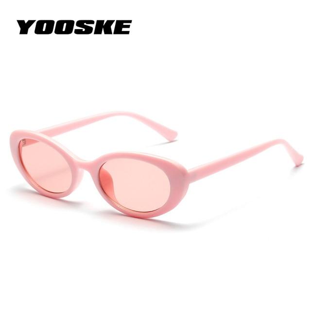1ad7405c6deac YOOSKE Bonito Senhoras Sexy Olho de Gato Óculos De Sol 2018 Mulheres Marca  Do Vintage Pequeno