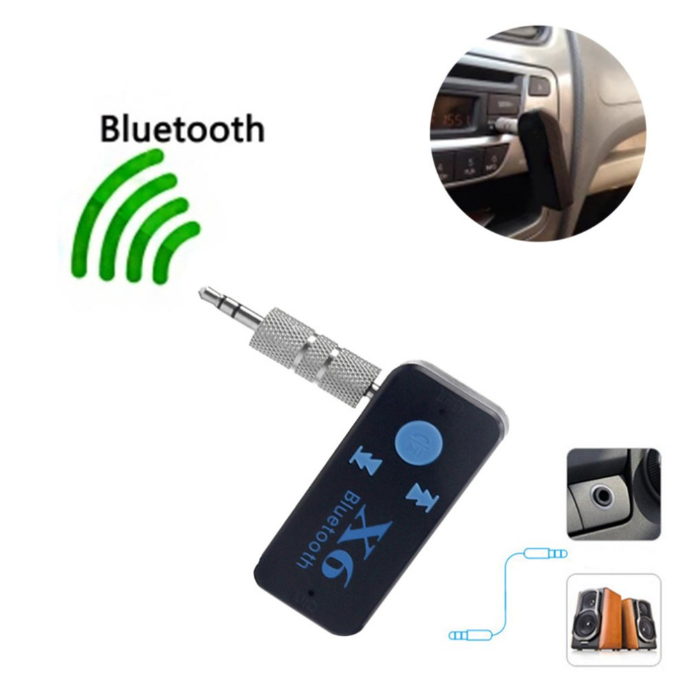 Car Bluetooth Music Receiver With Handsfree: New Car Bluetooth X6 Music Receiver Adapter 3.5mm Jack Wireless Handsfree Car Kit With TF Card
