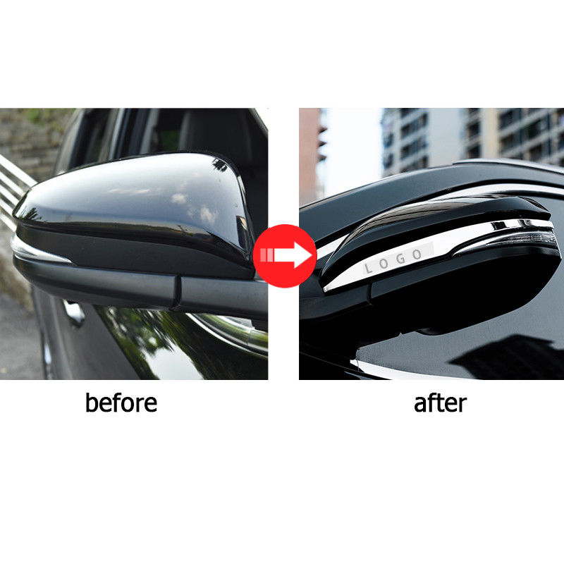 For Toyota Highlander 2015-2019 Chrome ABS Rear View Mirror Guard Cover Trim