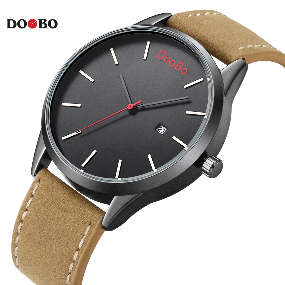 Casual mens watches top brand luxury men 39 s quartz watch sport military watches men leather for Casual watches