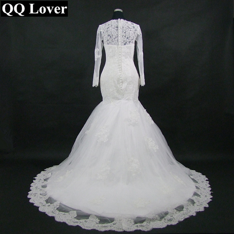 QQ Lover 2019 New Nice Lace Mermaid Wedding Dress Custom-Made Plus Size Vestido De Noiva Wedding Gown