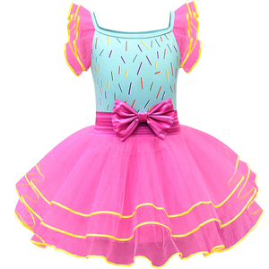 Image 2 - Baby Girl Nancy Dress Up Dresses Kids Fancy Nancy Ball Gown Flying Sleeve Tutu Frock Pants Sets Small Child Summer Casual Outfit