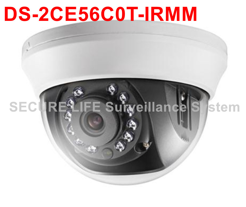 ФОТО Free shipping DS-2CE56C0T-IRMM HD720P Indoor IR Dome turbo HD Camera