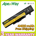 Apexway 6 ячеек батарея для lenovo IdeaPad y485p Y480 B590 G710 N581 G700 P585 B490 Серии для ThinkPad E540 E440 E531 E431