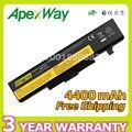 Apexway 6 celdas de la batería para lenovo ideapad y485p y480 b590 g710 n581 g700 p585 b490 series para thinkpad e540 e440 e531 e431