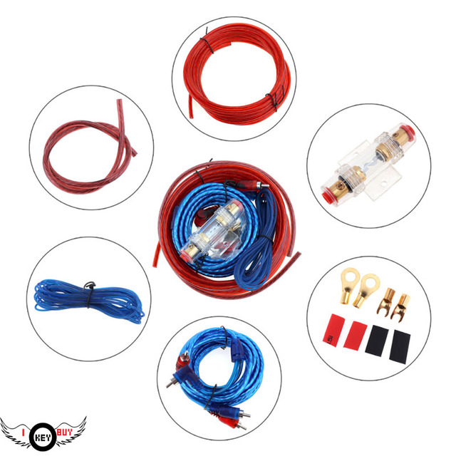 Best Offers 1500W High Power Car Carrier Subwoofer Line Audio Cable Oxygen Free Copper Amplifier  Installation Wiring Kits Audio Cable