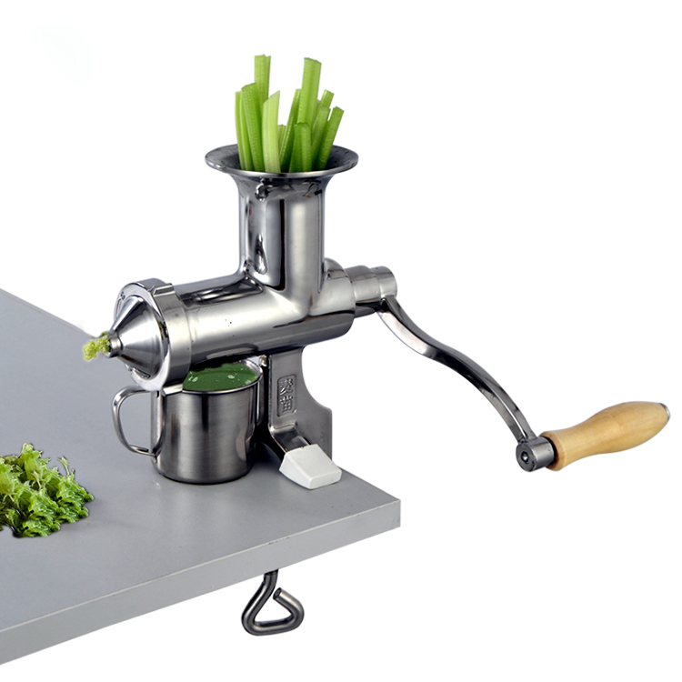 Stainless Steel Wheat Grass Juicer Manual Extractor Healthy DIY Juicing Maker Free Shipping Korea free shipping manual stainless steel wheatgrass juicer healthy wheat grass juicer machine wheat grass juice extractor