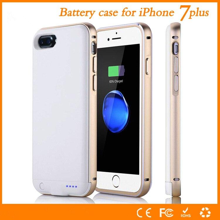 Цена за Металлический Корпус Для Apple Iphone 7 Plus Батарея Случая Высокого качество 4000 мАч Зарядное Устройство Крышка Смарт Для Iphone7 плюс 5.5 случае