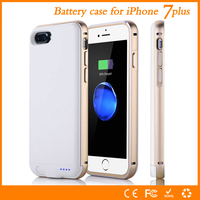 Metal Shell For Apple Iphone 7 Plus Battery Case High Quality 4000mAh Power Charger Cover Smart