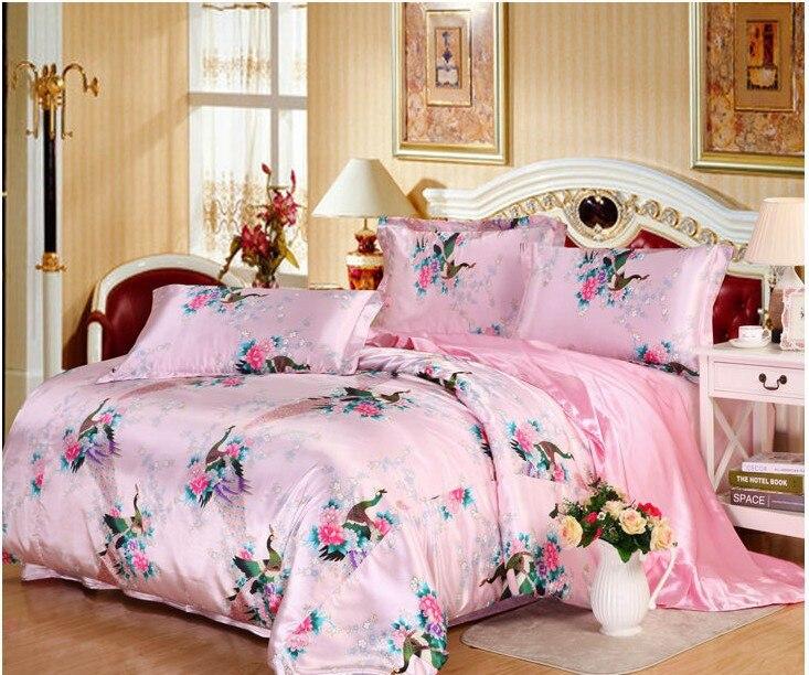 achetez en gros draps de satin de soie en ligne des grossistes draps de satin de soie chinois. Black Bedroom Furniture Sets. Home Design Ideas