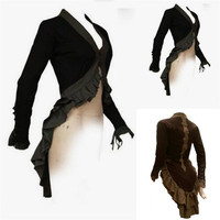 Europe America Medieval Retro Stage Dance Wear Lacework Coat Cosplay Costumes Dancing Party Christmas Halloween