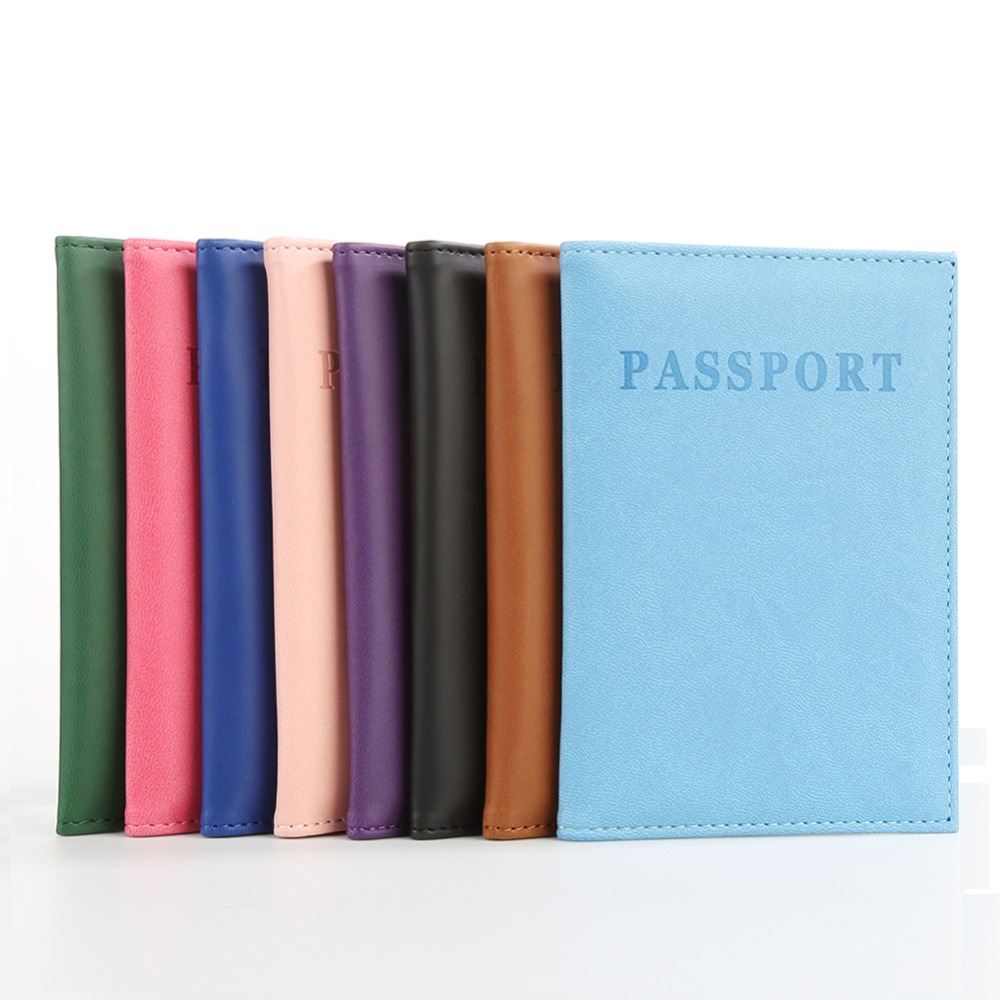 2016 New Design  Travel Passport ID Card Cover Holder Case Faux Leather Protector Skin Organizer  Gifts 9R1Q