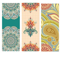 Yoga Mat 1mm Natural Rubber Suede Non slip Ultralight Foldable Pilates Fitness Exercise Mat Yoga Mat Cover Travel Mat With Bags