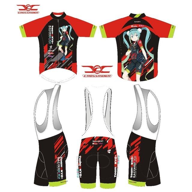 Crossrider 2018 TEAM racing MIKU short sleeve cycling jersey custom  Mountain Bike clothing Top Shirt cycling clothing CY-28 4ae419a8a